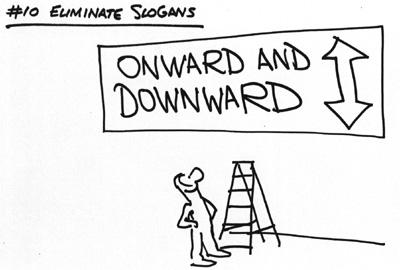 Éliminez les slogans