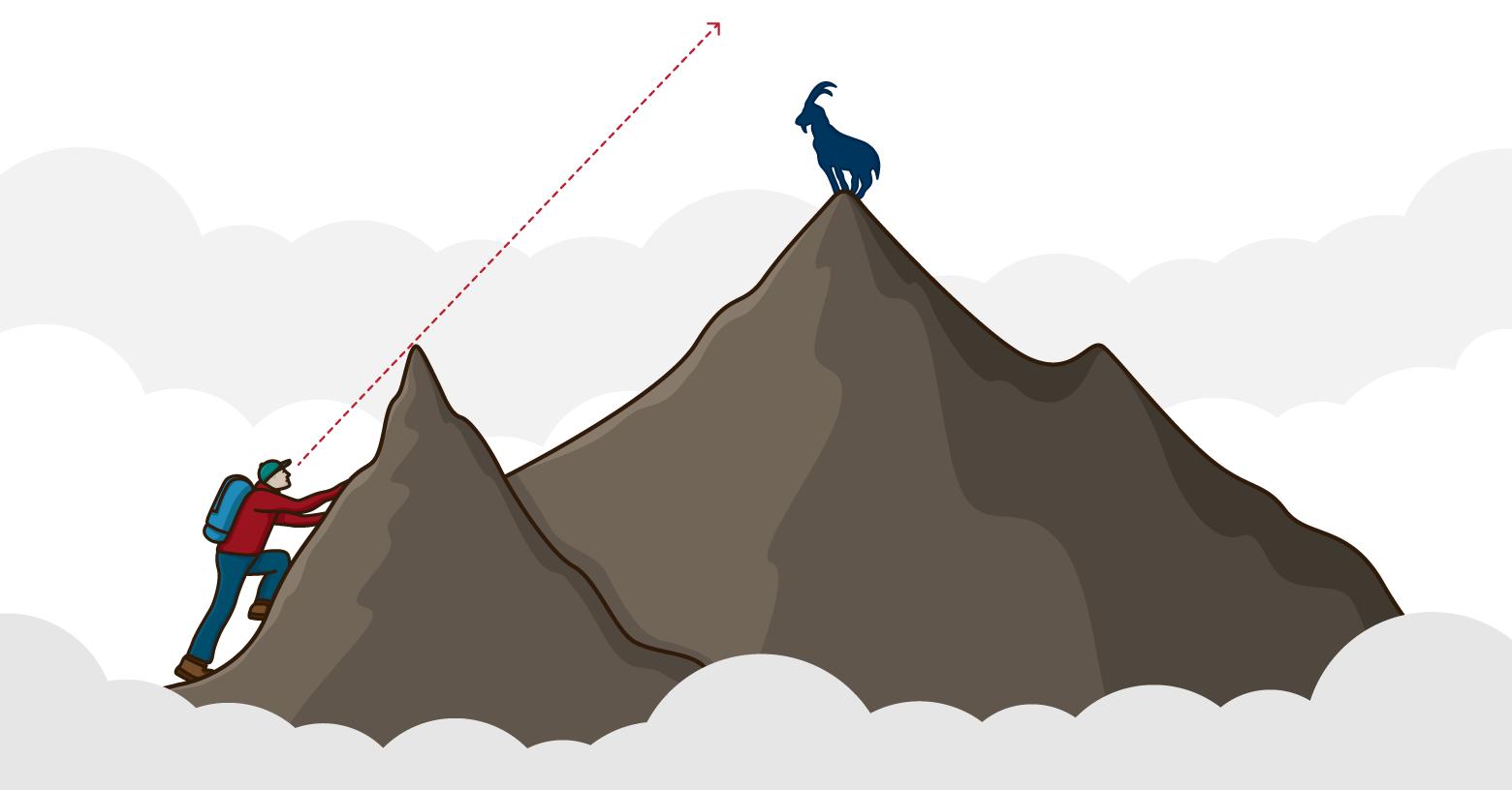 montagne et objectif